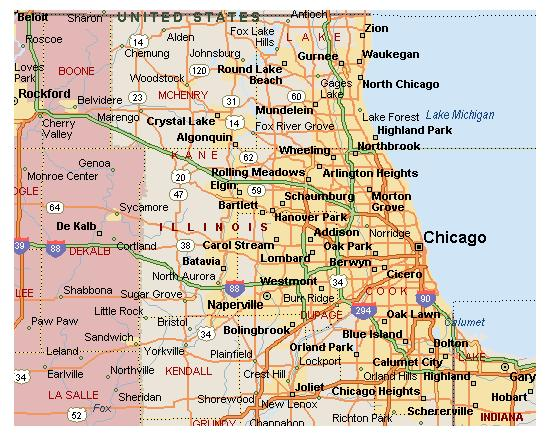 Chicago HP DesignJet Plotter Coverage Area